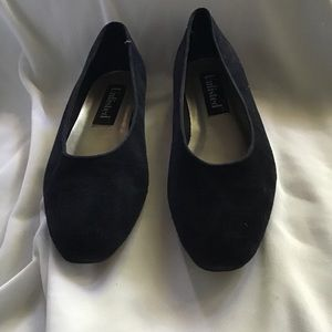 Flats Navy Suede Slip On Flats Shoes Womens Size 8